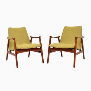 Danish Teak Armchairs by Arne Hovmand-Olsen for Mogens Kold, 1958, Set of 2