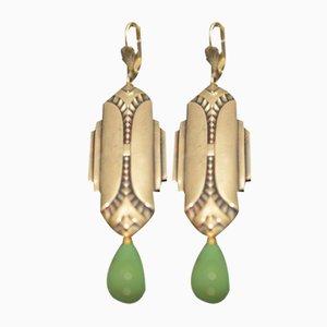 Silberne Vintage Art Deco Ohrringe, 2er Set