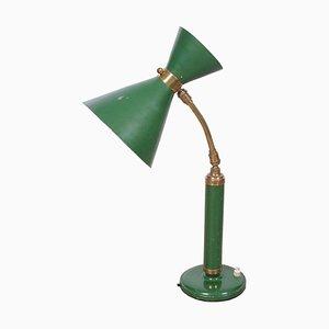 Italian Desk Lamp with Diablo Green Shade, 1950s