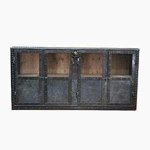 Antique Riveted Metal Sideboard