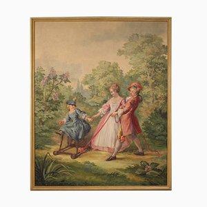 Pittura romantica passeggiata nel parco