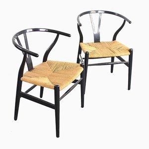 Wishbone Stühle von Hans J. Wegner für Carl Hansen & Søn, 1960er, 2er Set