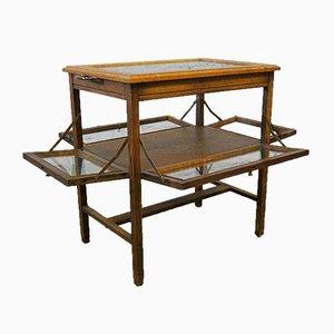 Mueble o bar vintage de roble macizo, años 30