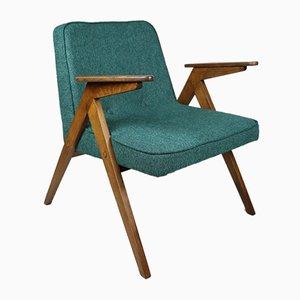 Green / Blue Bunny Armchair by Józef Chierowski, 1970s