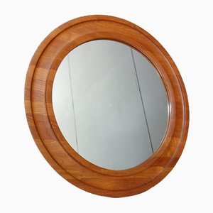 Danish Round Mirror from Hadsten, 1960s