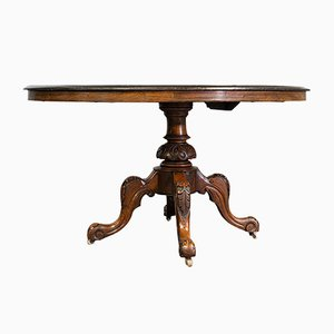Antique English Walnut Oval Breakfast Table