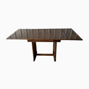 Vintage British Oak Extendable Dining Table from CC41, 1940s