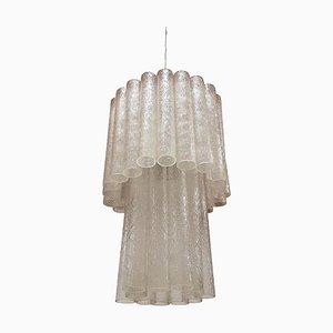 Kronleuchter mit Glasröhrchen von Toni Zuccheri für Venini