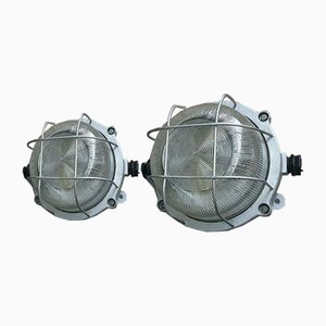Industrial Wall Lamps, 1970s, Set of 2