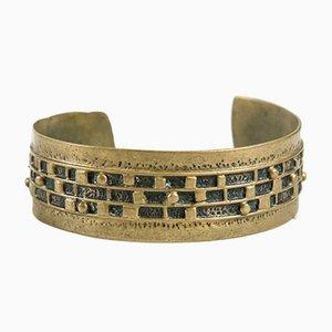 Handgefertigtes Mid-Century Kupfer Armband, 1970er