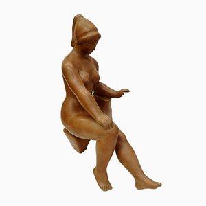 Skulptur aus Terrakotta von Laszlo Marosan 1960er