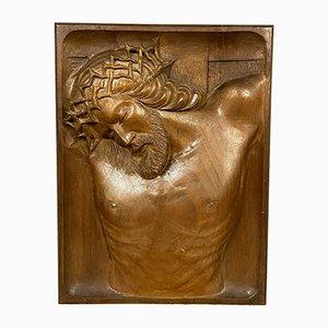 Geschnitzter Christus Dornenkrone, 1900er