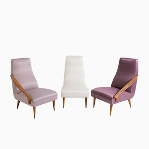 Mid-Century Armchairs by Gio Ponti for Boucher and Fils Edition, Set of 3