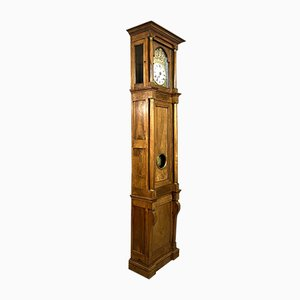19th Century Solid Walnut Grandfather Clock