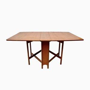 Table de Salle à Manger Pliante Vintage en Teck de AH Mcintoch & Co LTD