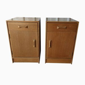 Mid-Century Wooden Bedside Cabinets from Stag, Set of 2