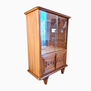 Walnut Display Cabinet by Maxime Old, 1940s