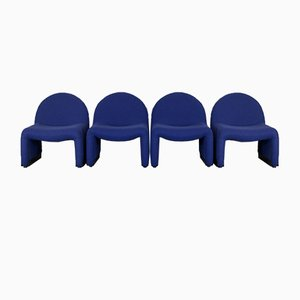 Blue Foam Chairs from Atal, 1970s, Set of 4