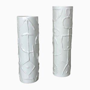 Vases Abstraits en Porcelaine par Cuno Fischer pour Rosenthal, Allemagne, 1980s, Set de 2