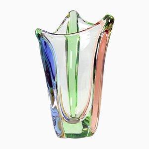 Art Glass Rhapsody Collection Vase by Frantisek Zemek for Mstisov Glass Factory, 1960s