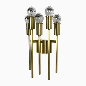 Brass Italian Stillovo Style Theatre Ceiling Light / Sconce, Italy, 1970s