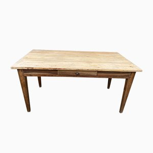 Vintage Oak Dining Table with Drawer