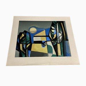 Lithographie von Albert Ferenz, 1950