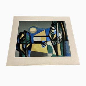 Lithography by Albert Ferenz, 1950