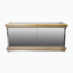 Mirrored Sideboard by Sandro Petti for Metallarte, Italy, 1970s