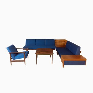 Norwegian Rosewood Svanette Daybeds, Armchair, Corner, and Coffee Table by Ingmar Relling for Ekornes, 1960s, Set of 5