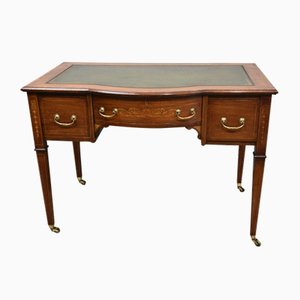 Antique Inlaid Mahogany Writing Desk