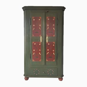 Antique Bohemian Painted Wardrobe, 1838