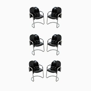 Dialogo Dining Chairs by Tobia & Afra Scarpa for B&B Italia / C&B Italia, 1970s, Set of 6
