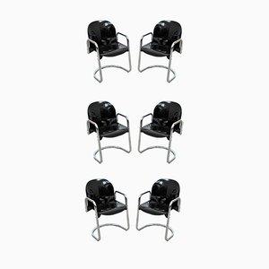 Dialogo Esszimmerstühle von Tobia & Afra Scarpa für B & B Italia / C & B Italia, 1970er, 6er Set
