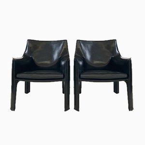 414 Sessel von Mario Bellini für Cassina, 1980er, 2er Set