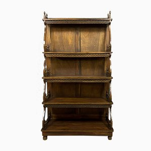 Walnut Wall Unit, 1850s