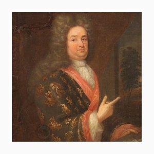 Antike Französische Malerei Portrait eines Herrn, 18. Jahrhundert