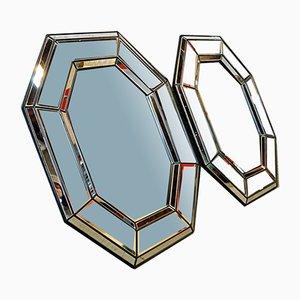 Espejo de pared vintage octagonal, Bélgica