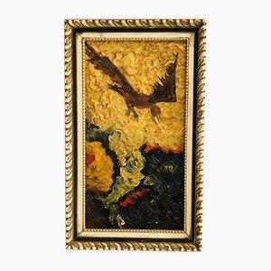 Pittura astratta di uccello in volo di Anthony Dunn, anni '60