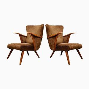 Vintage Wingback Corduroy Chair