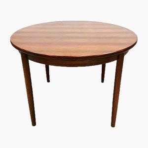 Mesa de comedor extensible danesa vintage de palisandro
