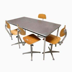 Escritorio de mesa industrial vintage