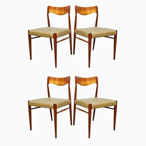 Vintage Danish Dining Chairs by Niels O. Moller, Set of 4