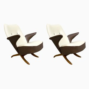 Vintage Congo & Pinguin Lounge Chairs by Theo Ruth for Artifort, Set of 2