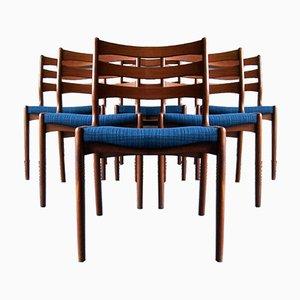 Chaises de Salon Mid-Century en Teck par Erik Buch, Danemark, 1960s, Set de 6