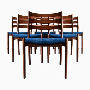 Sedie da pranzo Mid-Century in teak di Erik Buch, Danimarca, anni '60, set di 6