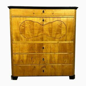 Biedermeier Sekretär aus hellem Holz, 1800er