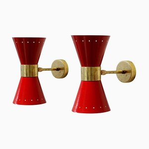 Mid-Century Italian Sconces, 1950s, Set of 2