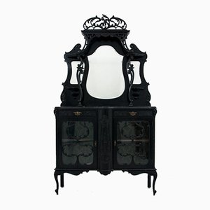 Antique Art Nouveau Cupboard, 1880s