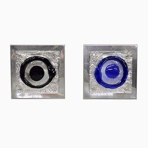 Italian Murano Glass Sconces, 1970s, Set of 2